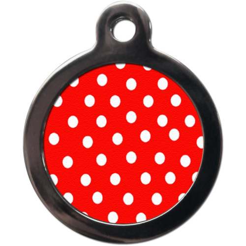 PS Pet Tags Polka Dot Dog ID Tag