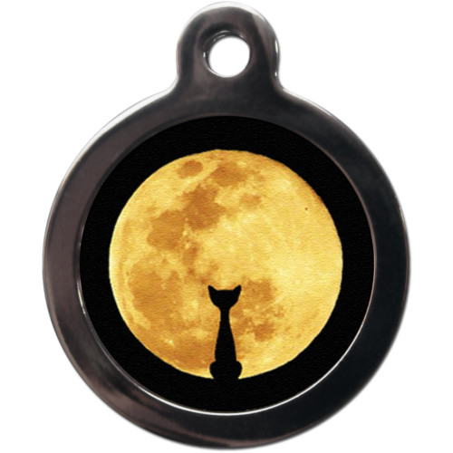 PS Pet Tags Cat & Moon Cat ID Tag
