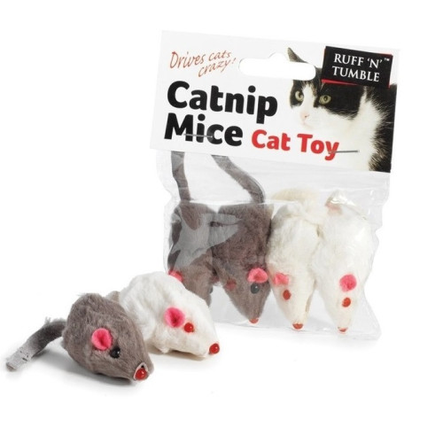 Sharples Pet Catnip Mice Cat Toys 5cm