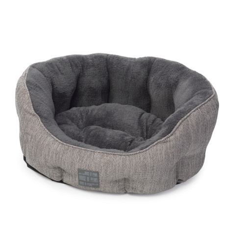 House Of Paws Grey Hessian Dog Bed