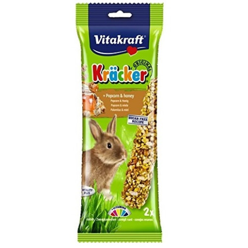 Vitakraft Kracker Popcorn & Honey Rabbit Sticks