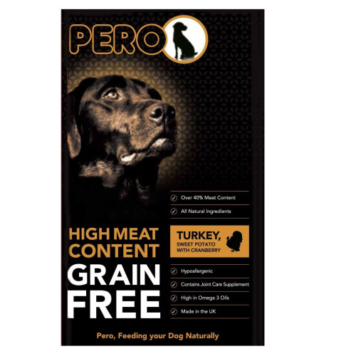 Pero Grain Free Turkey & Sweet Potato Adult Dog Food 2kg