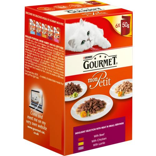 Gourmet Mon Petit Meat Pouches Adult Cat Food