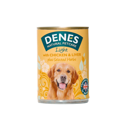 Denes Light With Chicken & Liver Adult Dog Food 400g x 12