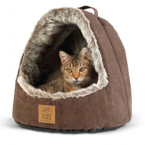 "House of Paws Hooded Arctic Fox Cat Bed 13.7"" L x 15.5"" W x 14.5"" H"