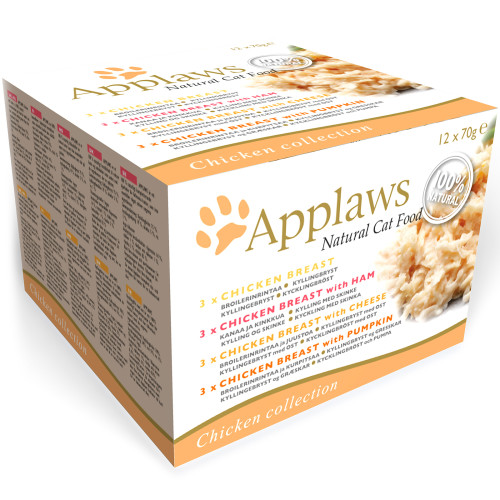 Applaws Chicken Collection Multipack Can Adult Cat Food 70g x 12