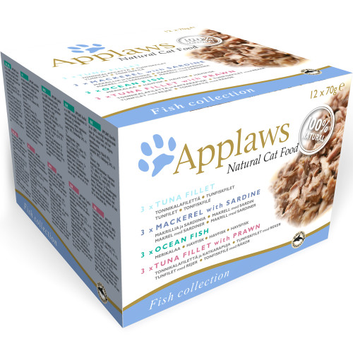Applaws Fish Deluxe Multipack Can Adult Cat Food 70g x 48 Mega Pack
