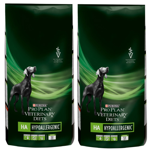 PURINA VETERINARY DIETS Canine HA Hypoallergenic Dog Food 11kg x 2