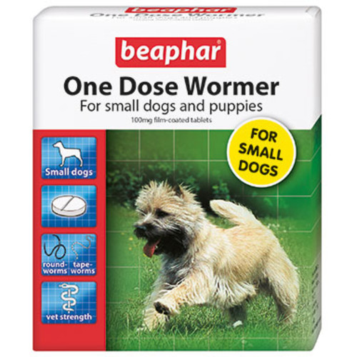 Beaphar One Dose Wormer for Dogs Small Dogs & Puppies (0-6kg) 3 Tablets