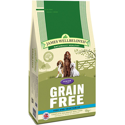 James Wellbeloved Grain Free Fish & Vegetables Senior Dog Food 10kg