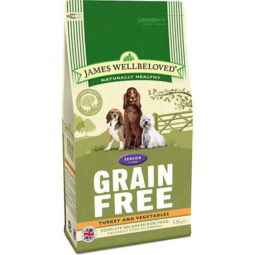 James Wellbeloved Grain Free Turkey & Vegetables Senior Dog Food
