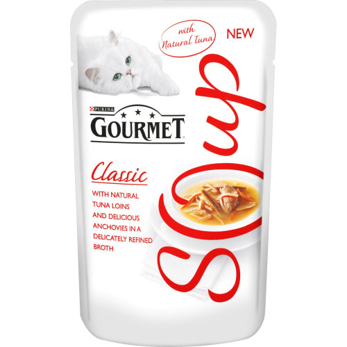 Gourmet Classic Soup Tuna & Anchovy Adult Cat Food