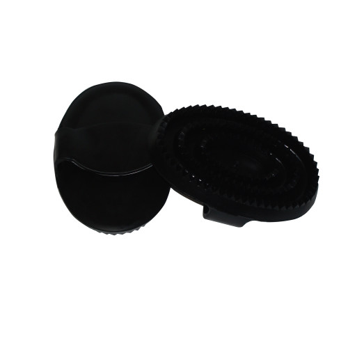 Bitz Rubber Curry Comb Large Black