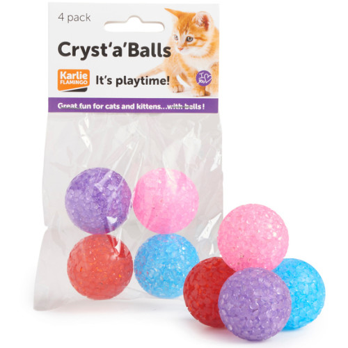 Sharples Pet Cryst a Balls Cat Toy