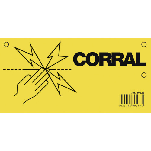 Corral Electric Fence Warning Sign