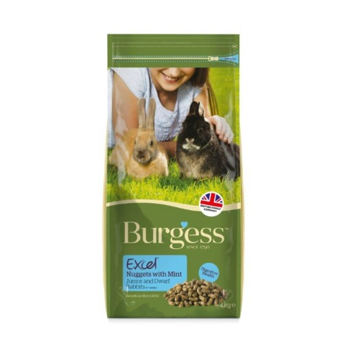 Burgess Excel Nuggets with Mint Junior/Dwarf Rabbit Food