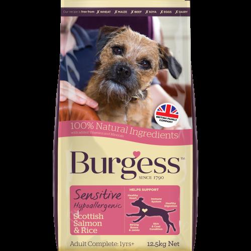 Burgess Complete Sensitive Salmon Adult Dog Food 12.5kg