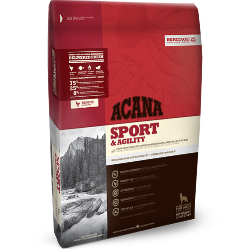 Acana Heritage Sport and Agility Adult Dog Food 11.4kg x 2
