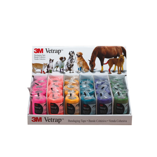 3M Vetrap Bandage Display 24 Pack Bright
