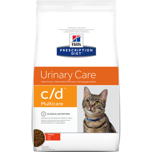 Hills Prescription Diet CD Multicare Chicken Dry Cat Food 10kg x 2