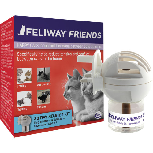 Feliway Friends Cat Calming Diffuser Starter Pack Plug In with 48ml Vial