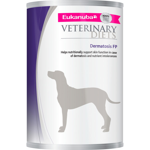 Eukanuba Veterinary Dermatosis FP Adult Dog Food Tins
