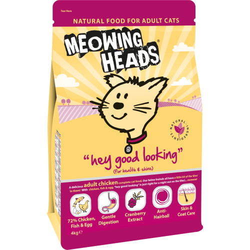 Meowing Heads Hey Good Looking Chicken Adult Cat Food