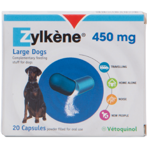 Zylkene Dog & Cat Calming Capsules 450mg - Dogs over 20kg x 20