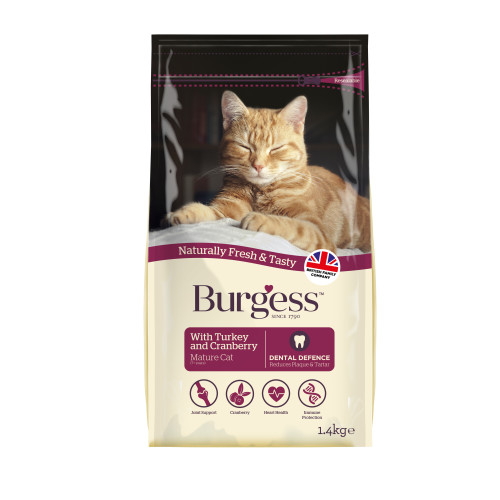 Burgess Complete Mature Turkey & Cranberry Cat Food