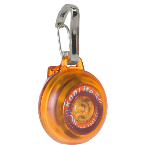 Rogz Roglite Safety Light for Dogs Orange