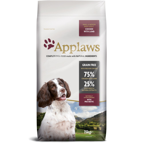 Applaws Chicken & Lamb Small & Medium Breed Dry Adult Dog Food