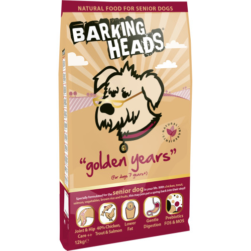 Barking Heads Golden Years Senior Dog Food