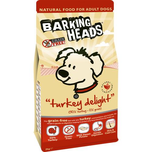 Barking Heads Grain Free Turkey Delight Dry Dog Food Kg