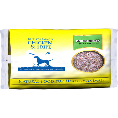 Natures Menu Free Flow Chicken & Tripe Raw Frozen Dog Food