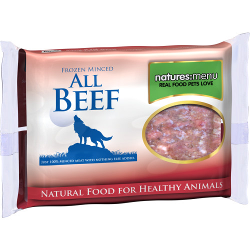 Natures Menu Minced Beef Raw Frozen Dog Food