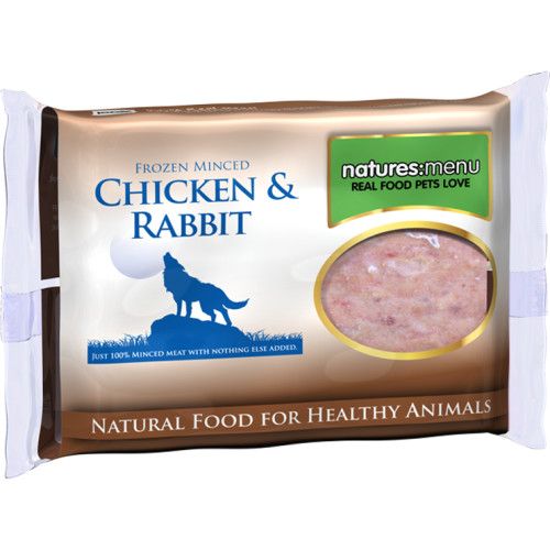 Natures Menu Minced Chicken & Rabbit Raw Frozen Dog Food