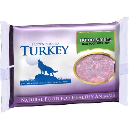 Natures Menu Minced Turkey Raw Frozen Dog Food