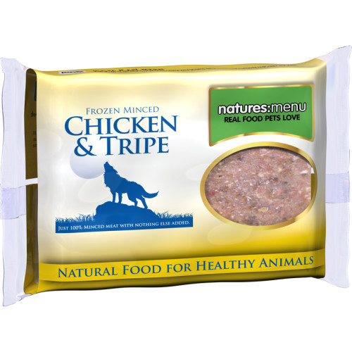 Natures Menu Minced Chicken & Tripe Raw Frozen Dog Food