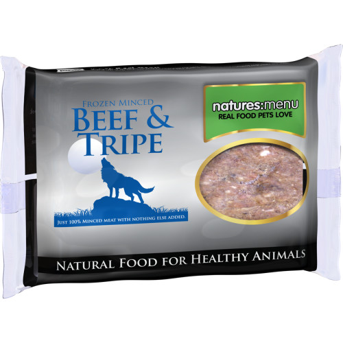 Natures Menu Minced Beef & Tripe Raw Frozen Dog Food