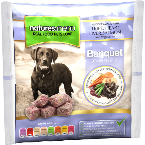 Natures Menu Complete Banquet Nuggets Raw Frozen Dog Food