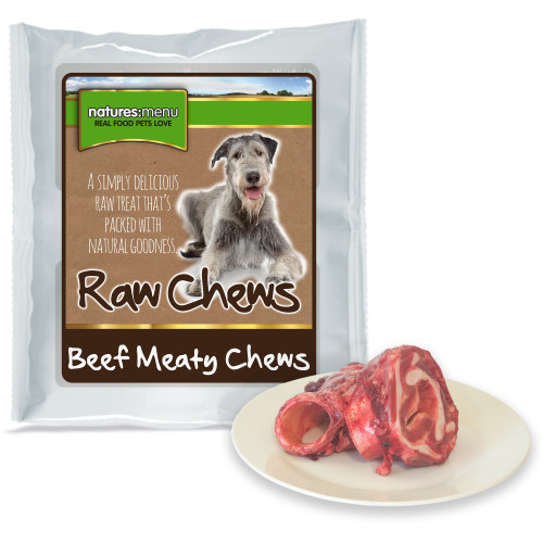 Natures Menu Beef Meaty Chews Raw Frozen Dog Food