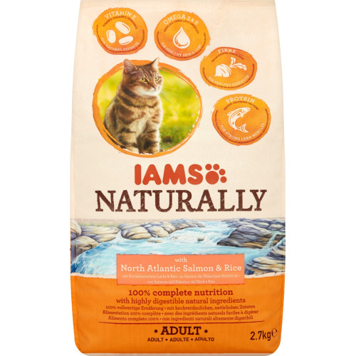 IAMS Naturally North Atlantic Salmon Dry Adult Cat Food