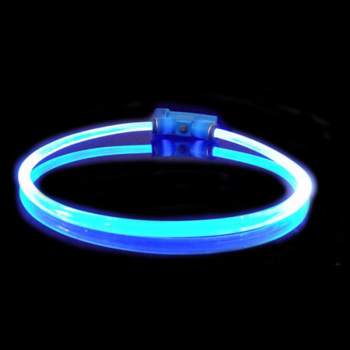 Red Dingo Lumitube Light Up Dog Collar Dark Blue Large