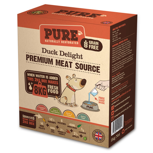 Pure Pet Food Duck Delight Rehydrated Dog Food