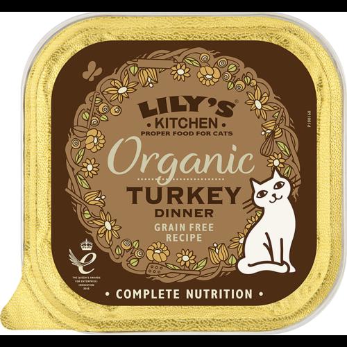 Lilys Kitchen Organic Turkey Dinner Complete Wet Cat Food 85g x 57