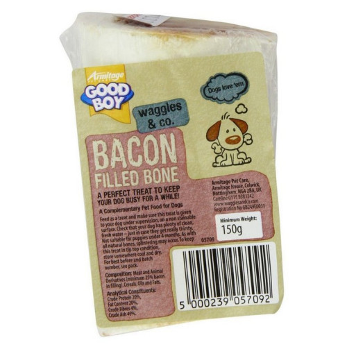 Good Boy Filled Bone Dog Treat 150g Bacon