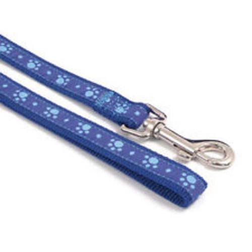 Rosewood Wag n Walk Paw Print Blue Dog Lead