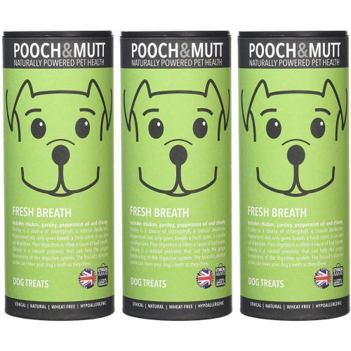 Pooch & Mutt Fresh Breath Natural Dog Treats 125g x 3 SAVER PACK