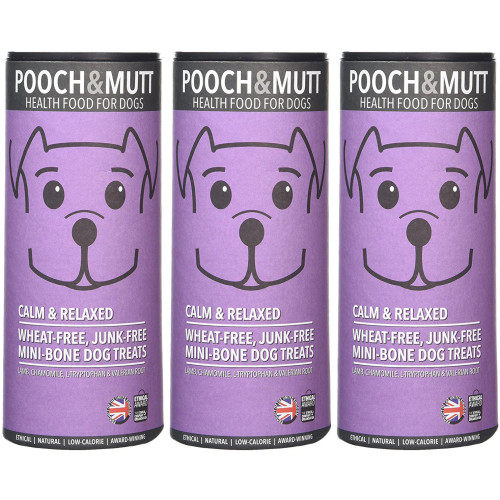 Pooch & Mutt Calm & Relaxed Natural Dog Treats 125g x 3 SAVER PACK