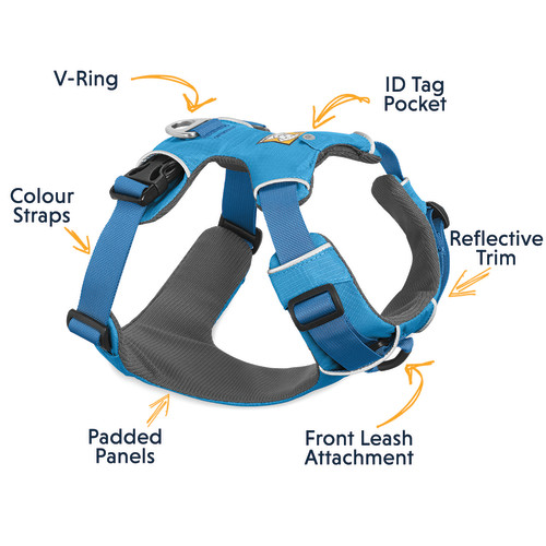Ruffwear Front Range Dog Harness Blue Dusk